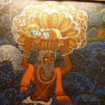 Lord Vishnu in the form of Snake protecting Lord Sri Krishna