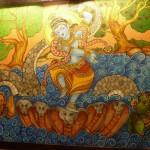 Lord Sri Krishna dancing on Kalinga  Sarpa (snake)